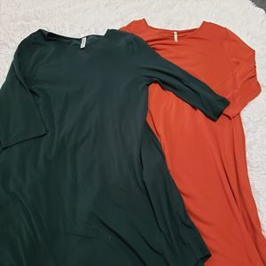 2 Dresses Size 1X A-line